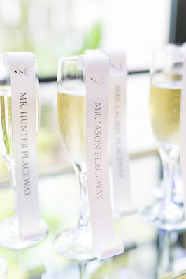wedding champagne escort cards