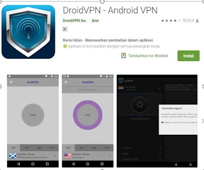 cara menggunakan droid vpn