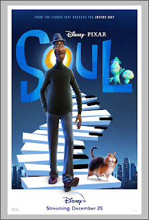 Joe Gardner and a cat walking on piano keys