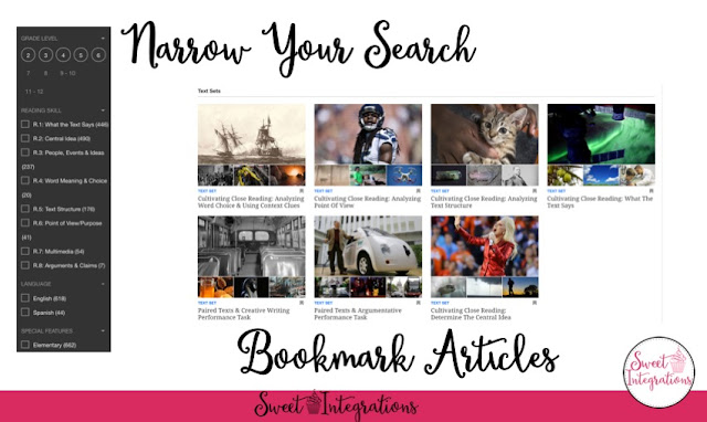 Narrow your search by bookmarking articles