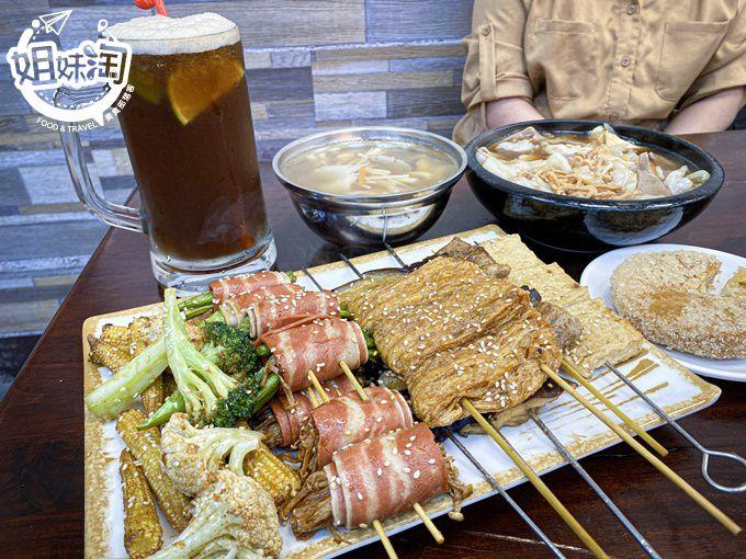 鳳山區大胃王份量的素食燒烤!不輸葷的炒素花枝意麵,保證絕對平價的素食餐廳-綠時代