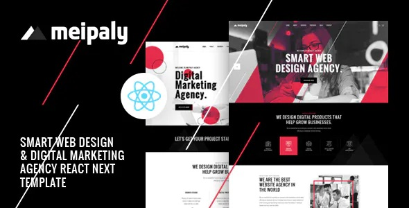 Best React Next Digital Services Agency Template
