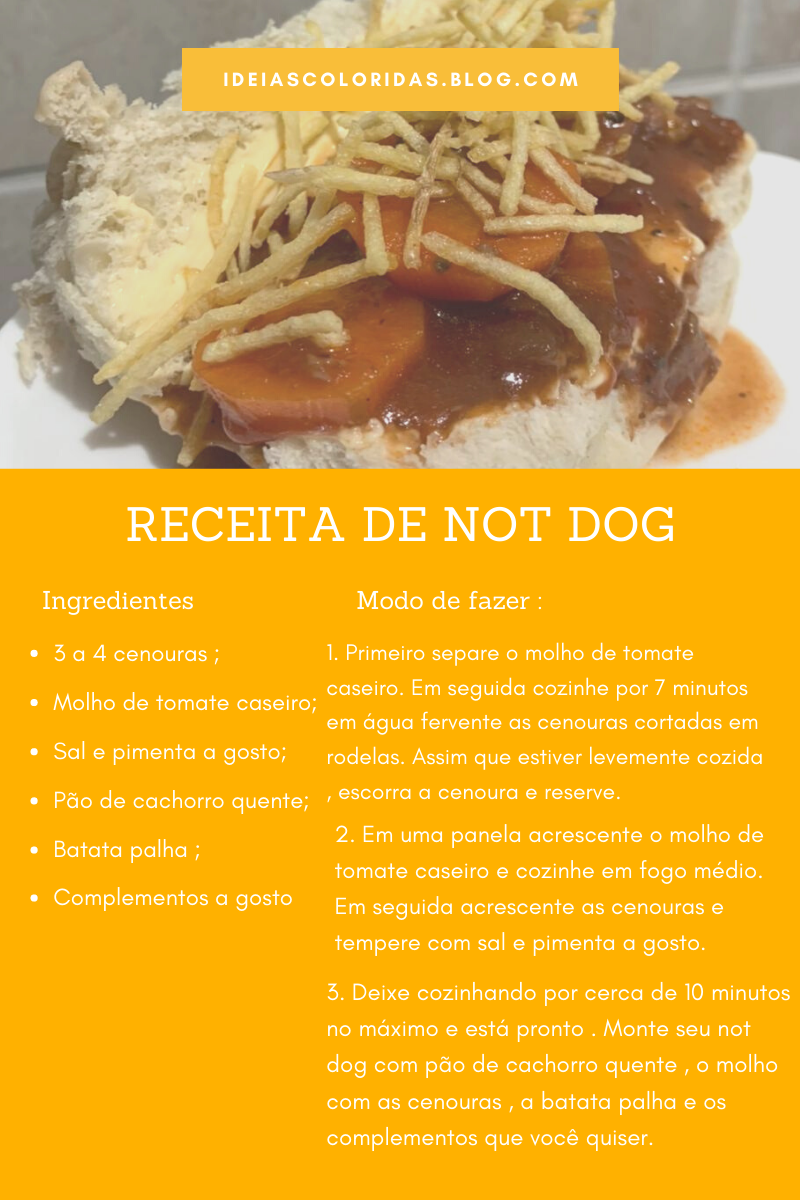 receita de Not dog