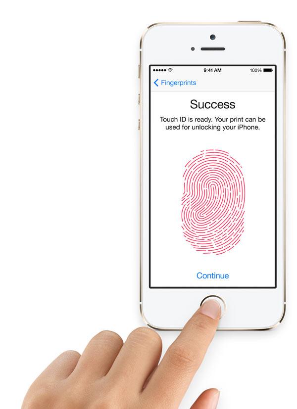 iPhone 5S com sensor de impressão digital de identidade / Touch ID
