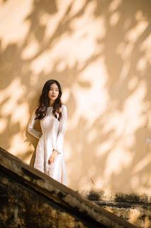 """""""Thiên thần đồng phục"""" trường Lê Quý Đôn khoe ảnh áo dài đẹp trong trẻo"""