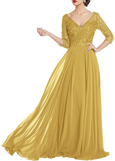 Cheap Gold Mother of The Bride Dresses