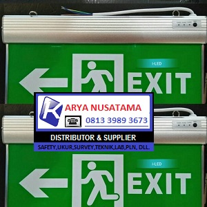 Jual Lampu Emergency Exit Biasa Hijau LED di Malang