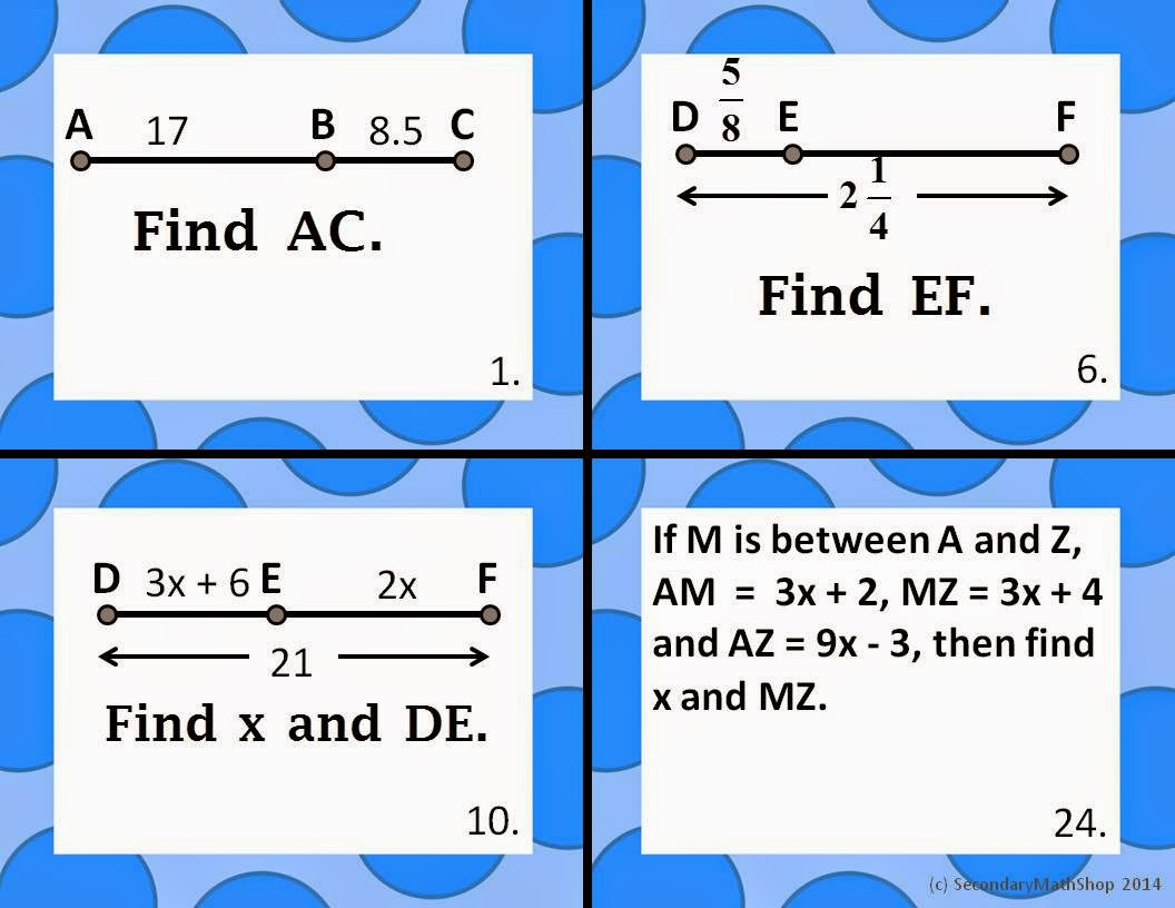 The Spectacular World Of Secondary Math Task Cards
