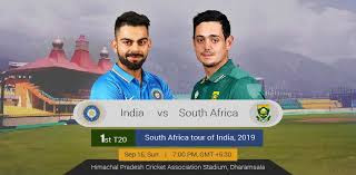 India vs South Africa 1st t20 2019