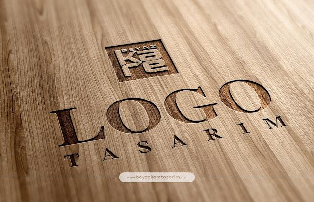3D logo tasarımı ahşap oyma