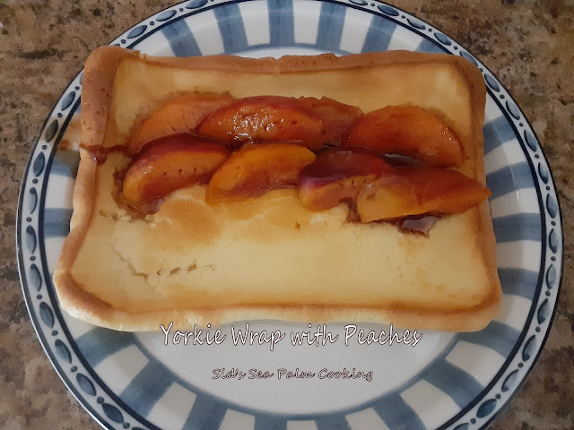 Yorkshire Pudding Wrap with Peaches