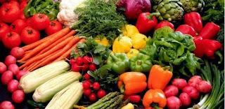 Fibras nos legumes do Sacolão Butantã