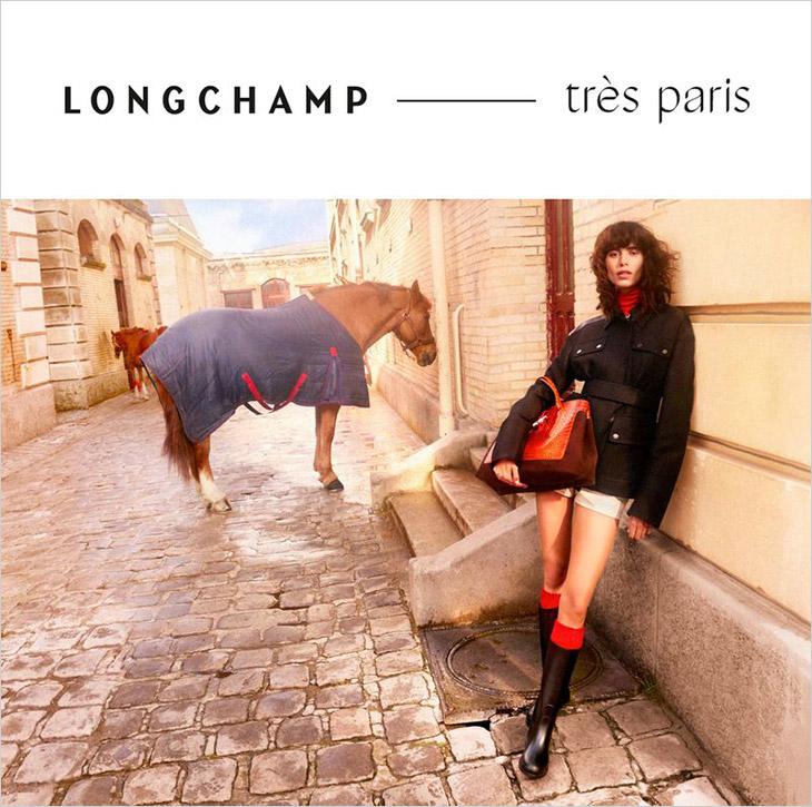 Longchamp Fall/Winter 2021 Campaign starring Mica Arganaraz