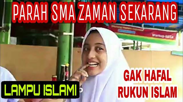 Hafal Nama Youtuber Terkenal, Siswa Zaman Now Ini Malah Tak Hafal Rukum Islam