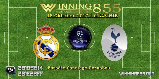 Prediksi Skor Real Madrid vs Tottenham Hotspur 18 Oktober 2017