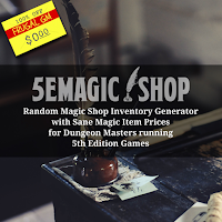 Free GM Resource: 5E Magic Shop
