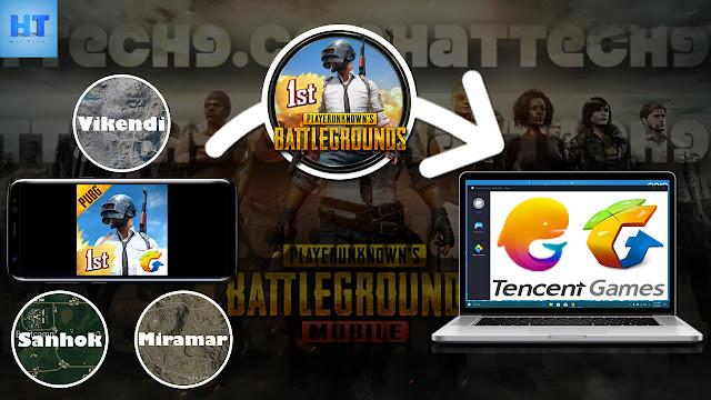 نسخ خرائط لعبة pubg mobile من الهاتف الى محاكي الاندرويد tencent gaming buddy