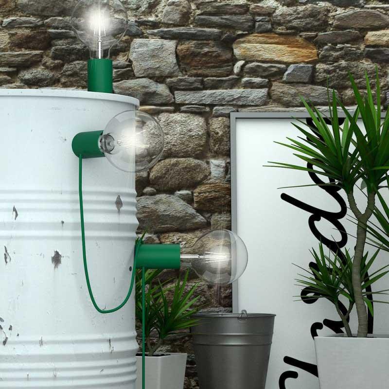 portalampada Magnetico Plug verde
