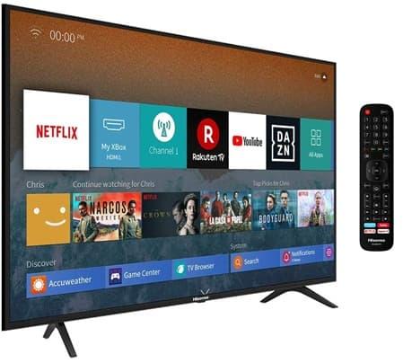 Hisense H43BE7000: Smart TV 4K de 43'' con VIDAA U 3.0 y control por voz vía Alexa