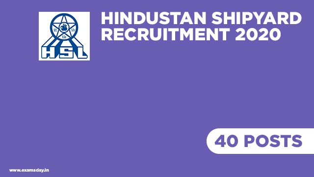 Hindustan Shipyard Recruitment 2020: 40 posts of Graduate/Diploma Apprentice