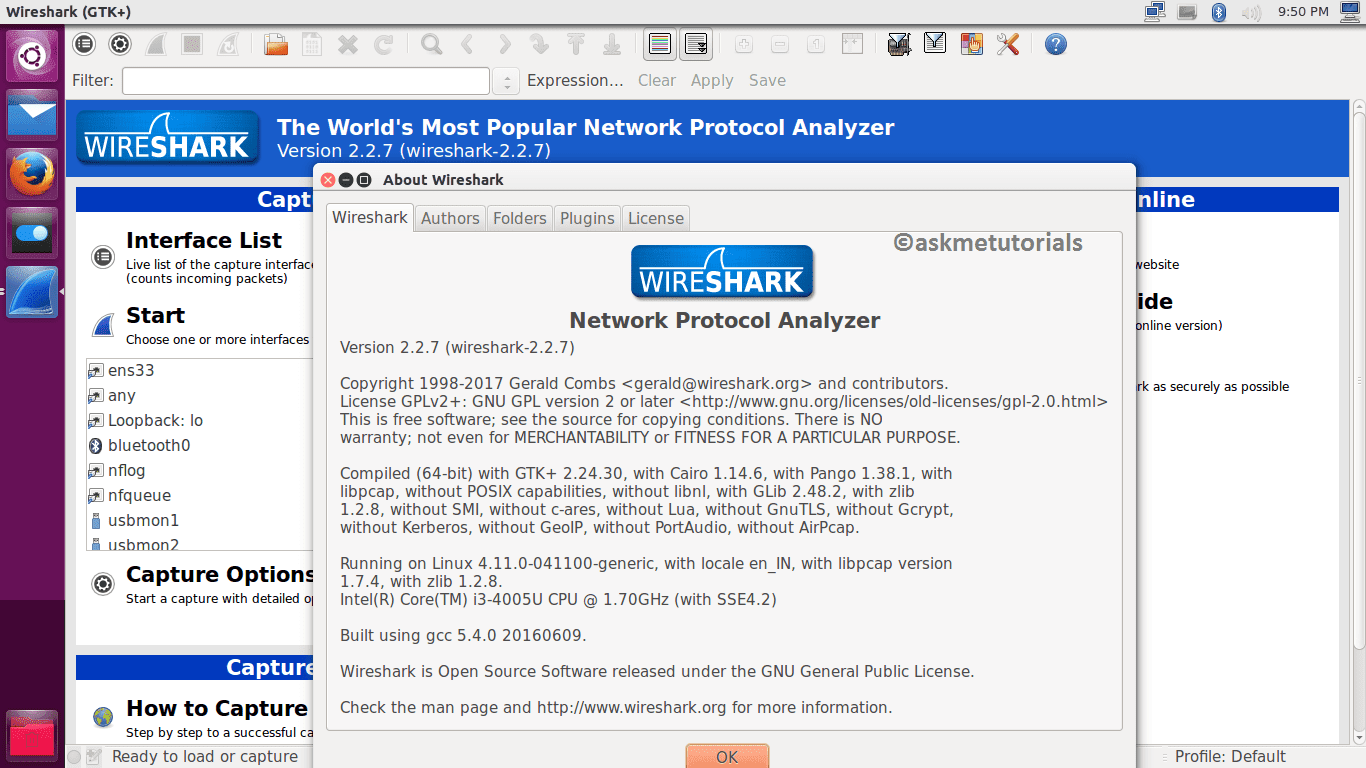Centos Wireshark