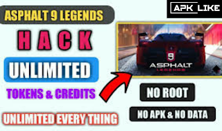 Asphalt 9 unlimited Tokens