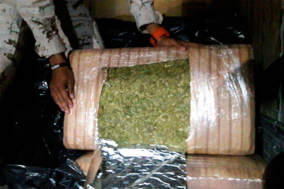 Interceptan camión de DHL con más de 2 toneladas de marihuana