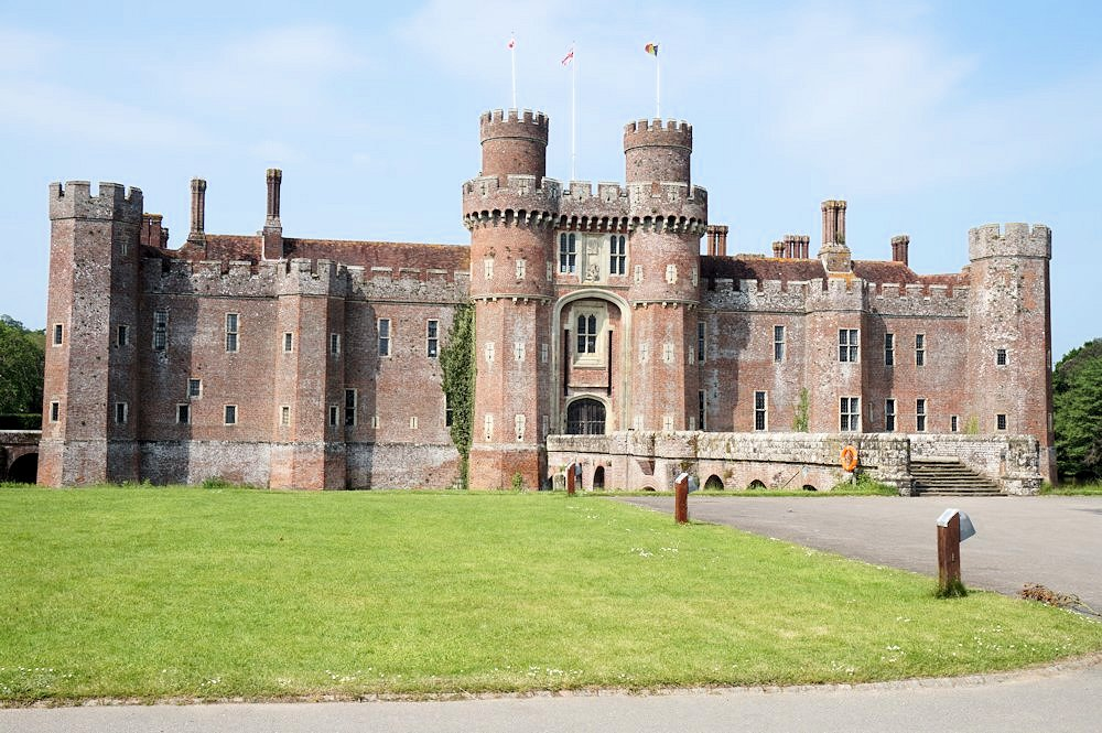 Herstmonceux-Castle-gardens-and-grounds-East-Sussex history architecture England