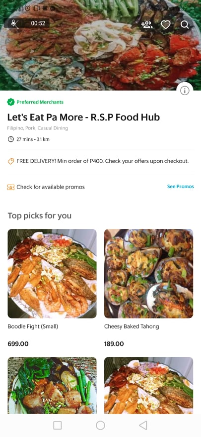 Let's Eat Pa More on Grab Food