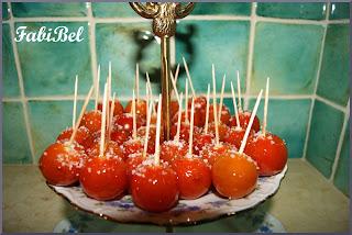 Apéritif tomates cerises pommes d'amour
