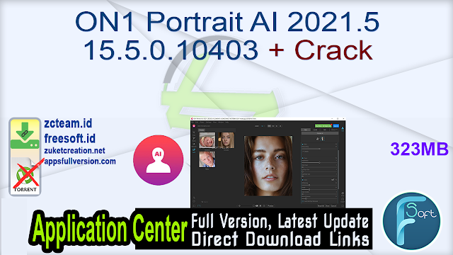 ON1 Portrait AI 2021.5 15.5.0.10403 + Crack_ ZcTeam.id