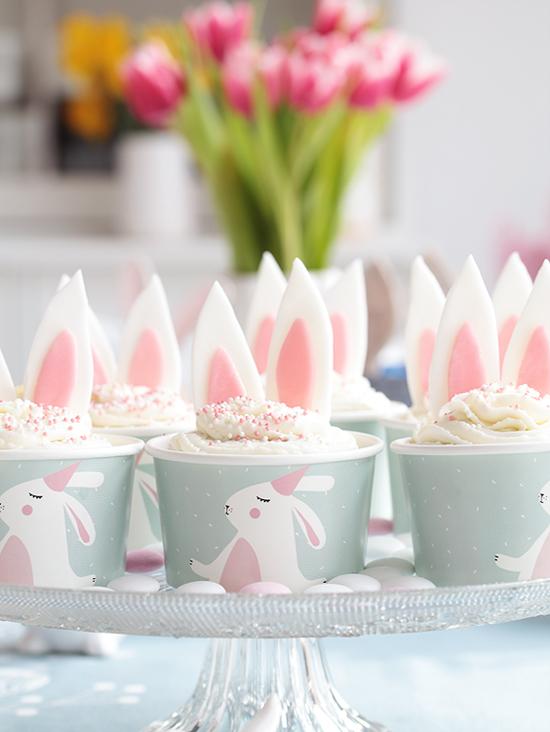 Osteridee: Schokoladige Osterhäschen-Cupcakes / Muffins Schoko