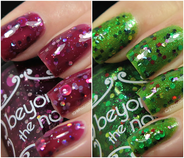 Beyond the Nail Winter Holiday 2016 Selections: Cranberry Jelly and Wreath