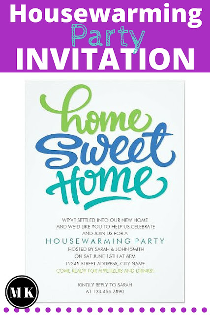 Blue & Green Home Sweet Home Housewarming Party Invitations - I really like these simple and casual invites, they have a great energetic feel. I love the eye catching color and fonts too!