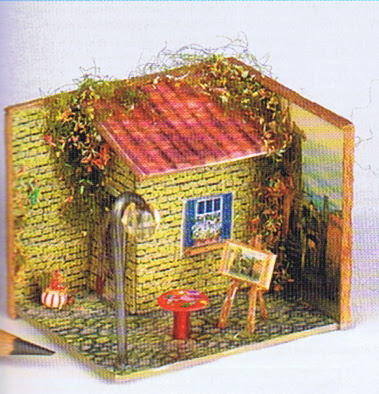 dollhouse miniature garden shed