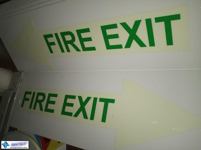 Luminous Fire Exit Arrow Signs