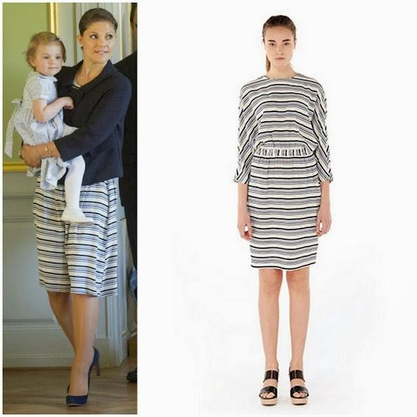 Crown Princess Victoria wears Mayla Print Dress