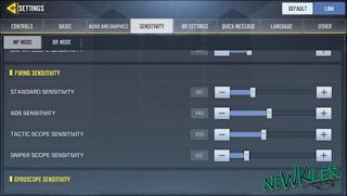 Cara Setting ADS Call of Duty Mobile Terbaru 2020