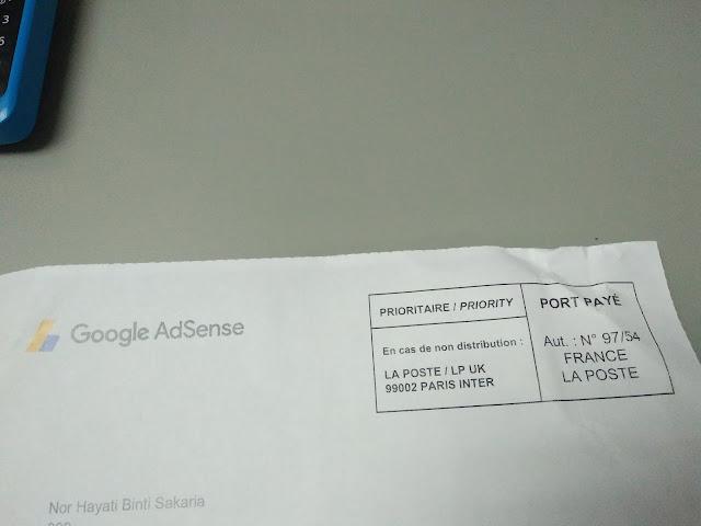 Surat Dari Google Adsense