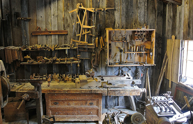 a workshop full of tools