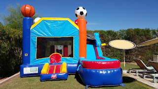 water slide bounce house combo