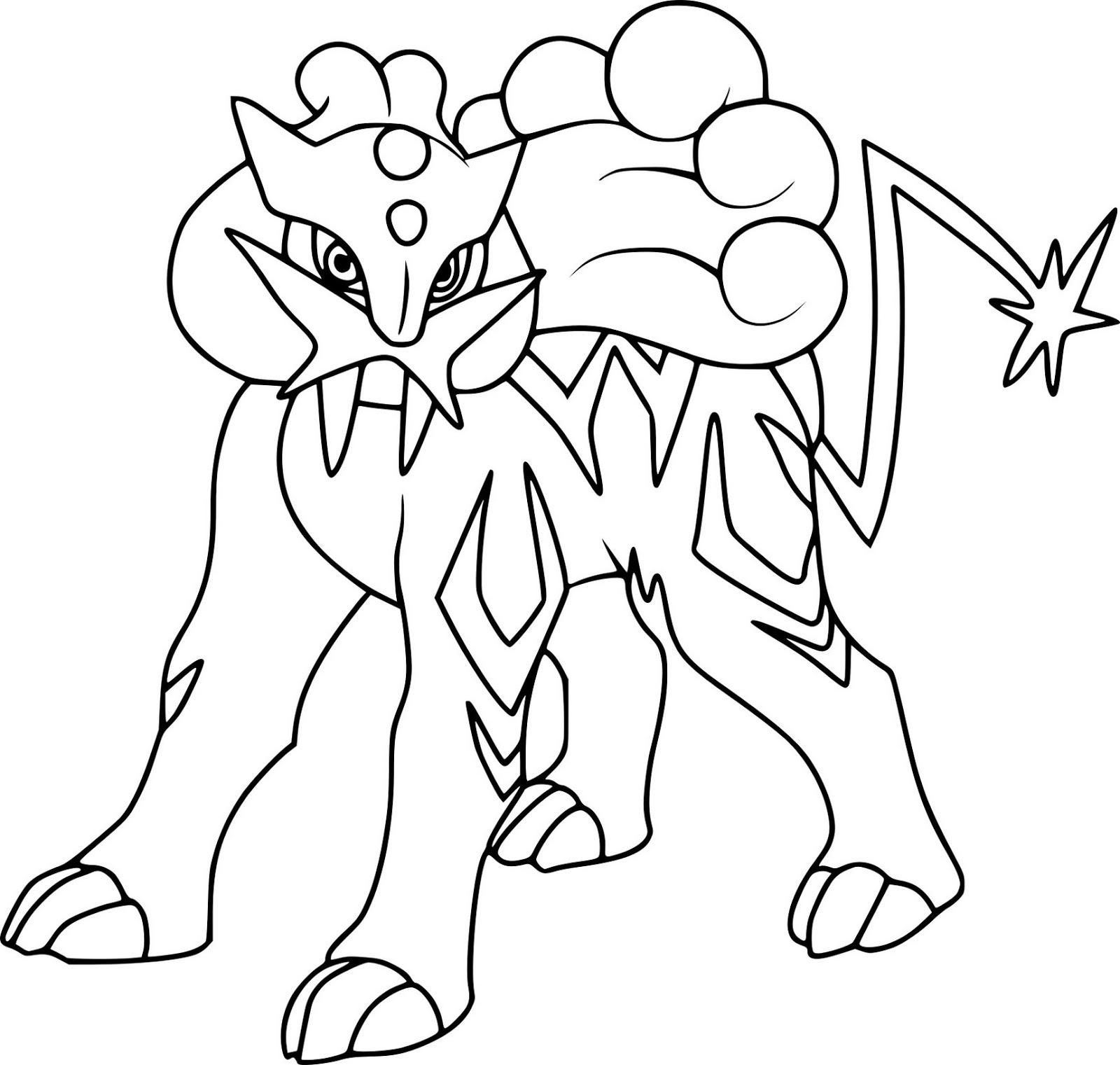 - Raikou Pokemon Coloring Pages - Free Pokemon Coloring Pages