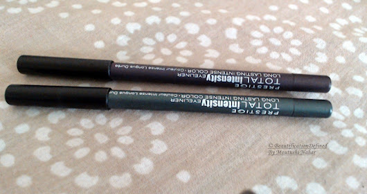 Review & Swatches: Prestige Total Intensity Eyeliner in Fearless Teal & Powerful Purple