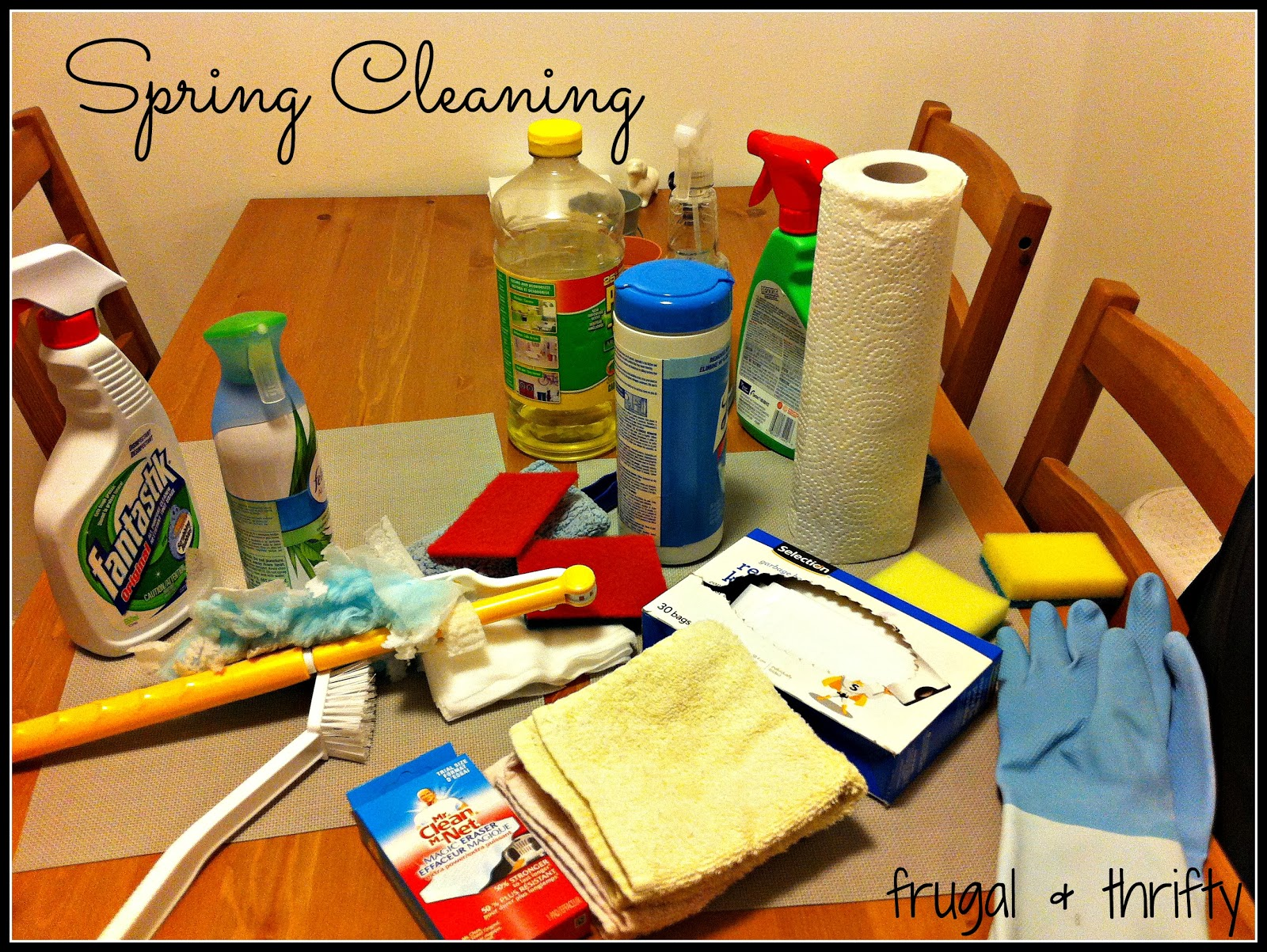 Frugal Amp Thrifty Spring Cleaning Supply List