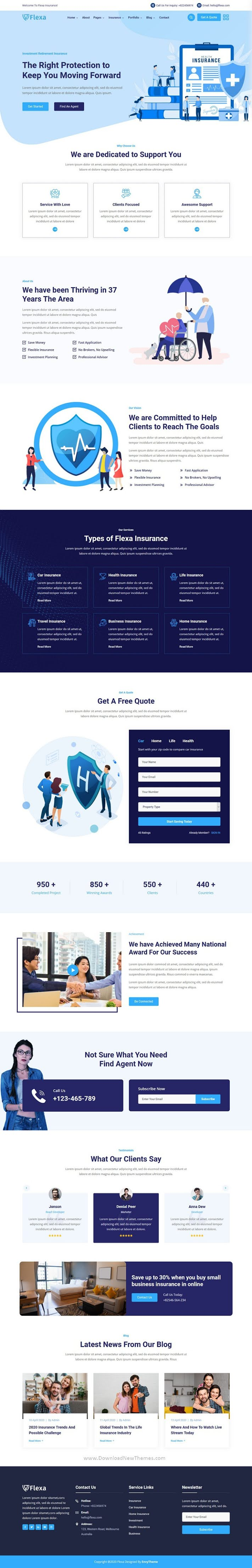 Insurance & Finance Company Template