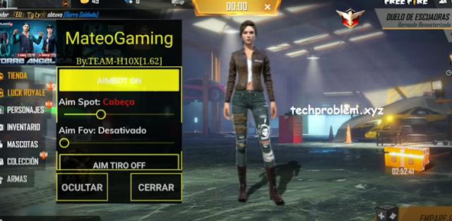 Free Fire Mod Menu Mateo Gaming Aimbot Espline Teleport Headshot Antiban