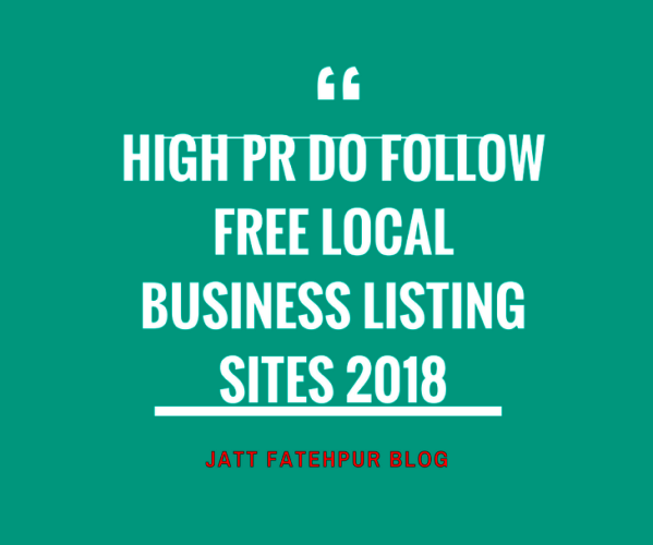 Top 50 High PR Do Follow Free Local Business Listing Sites