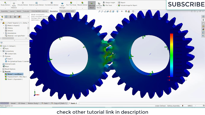 Spur Gear Simulation in Solidworks