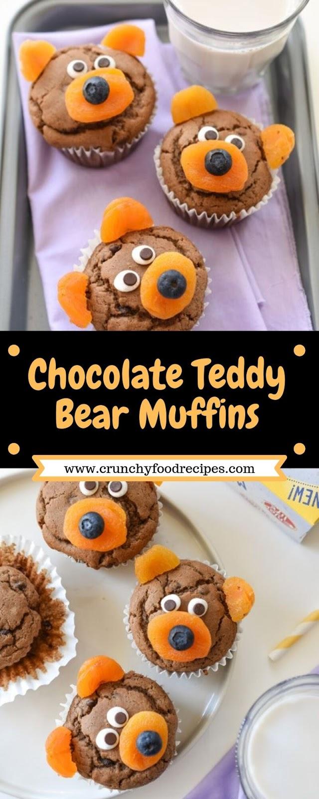 Chocolate Teddy Bear Muffins