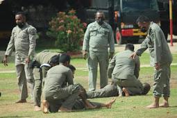 Brimob Merauke Melaksanakan Latihan Beladiri Jelang PON XX Papua